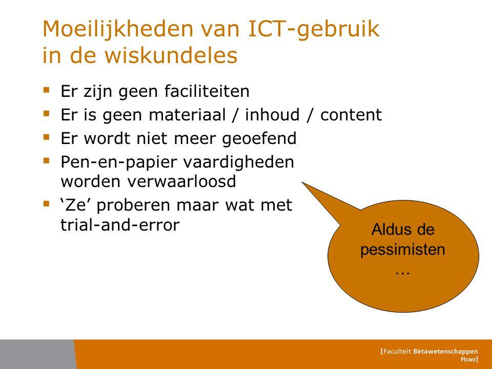 Moeilijkheden van ICT-gebruik in de wiskundeles