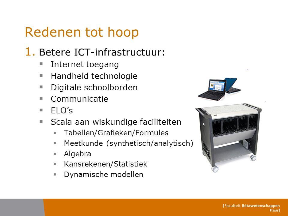 Redenen tot hoop Betere ICT-infrastructuur: Internet toegang