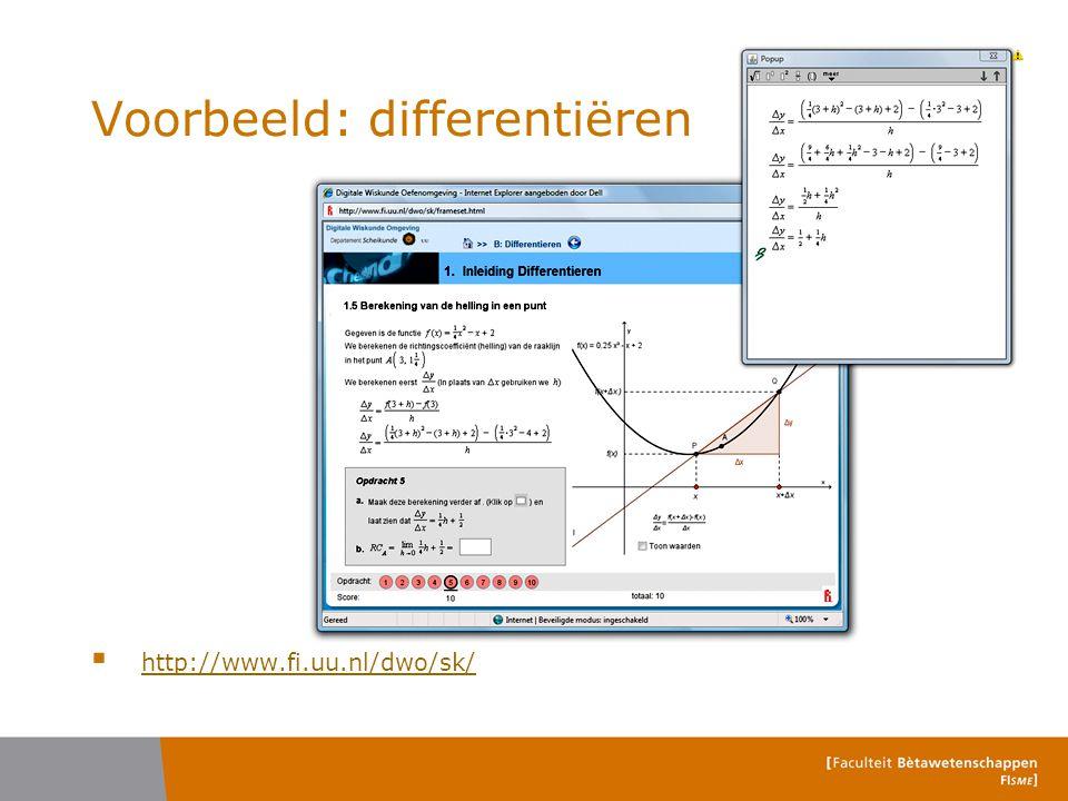 Voorbeeld: differentiëren