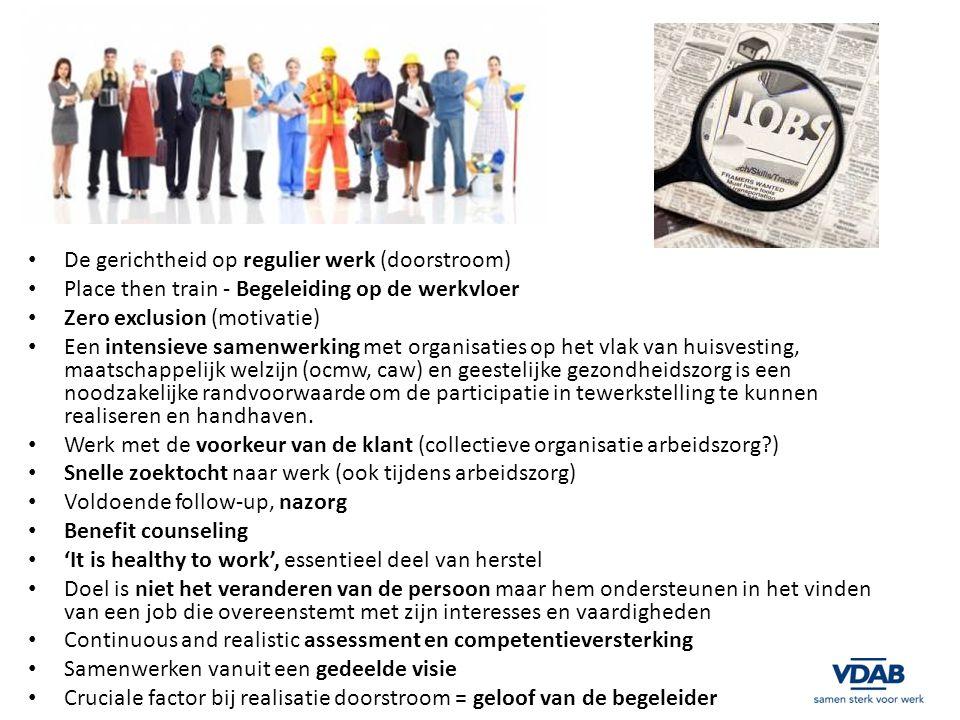 De gerichtheid op regulier werk (doorstroom)