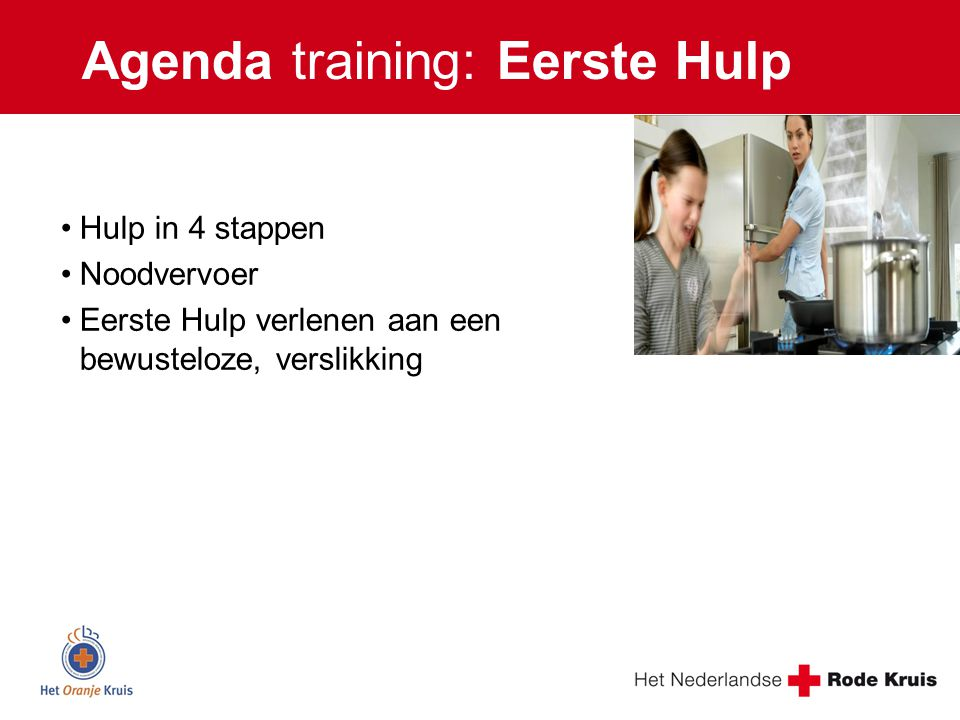 Agenda training: Eerste Hulp