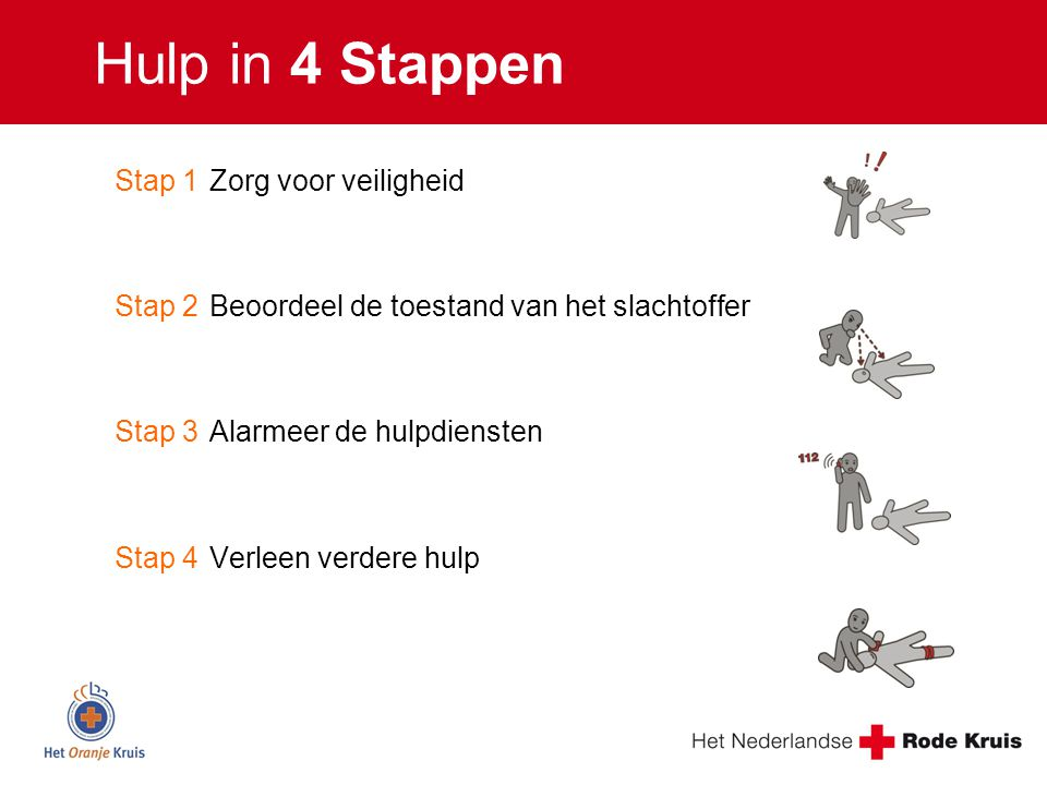 Hulp in 4 Stappen Stap 1 Zorg voor veiligheid