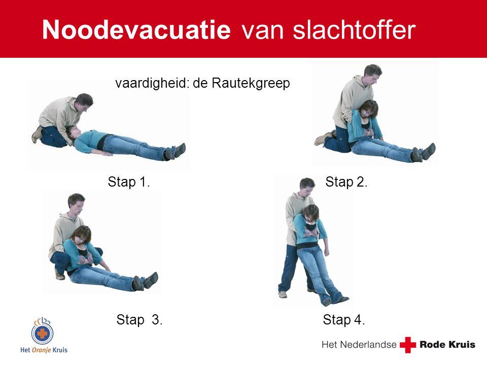 Noodevacuatie van slachtoffer