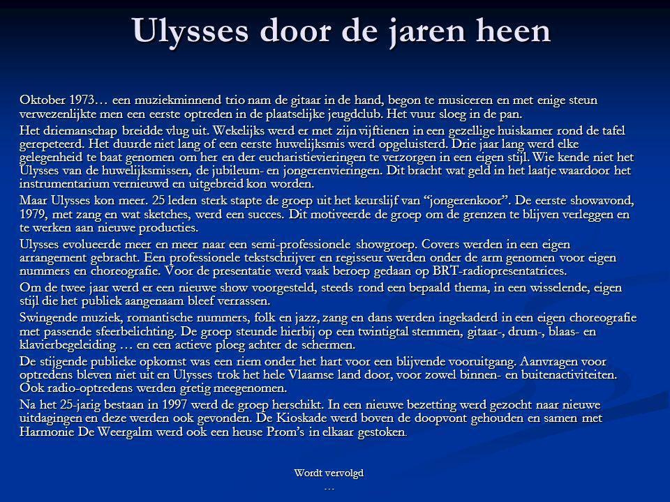 Ulysses door de jaren heen
