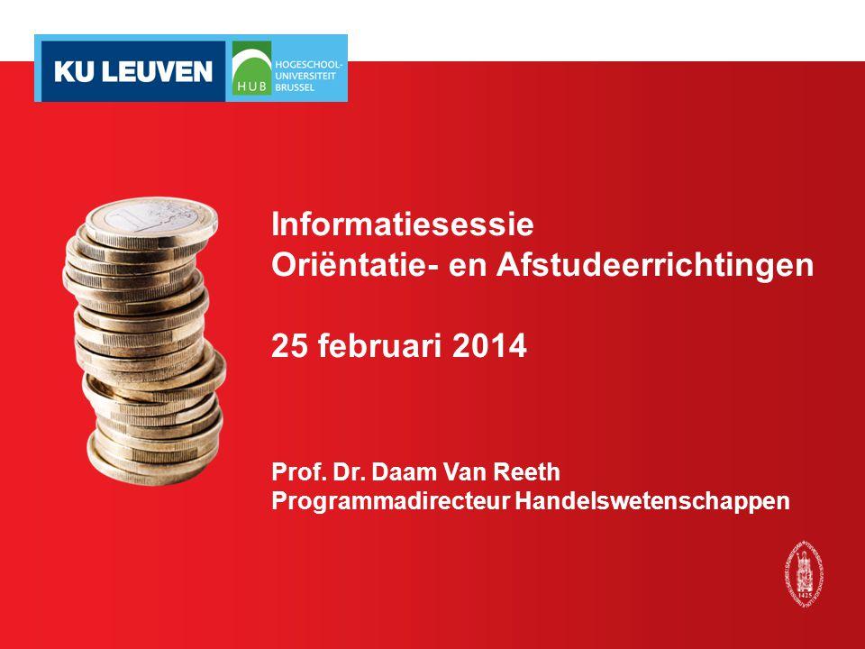 Oriëntatie- en Afstudeerrichtingen 25 februari 2014