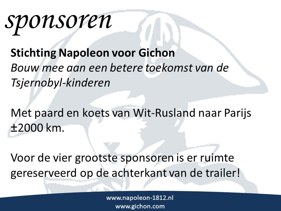 sponsoren \\\ Stichting Napoleon voor Gichon