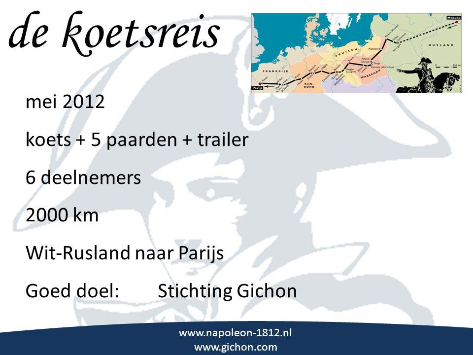 de koetsreis \\\ mei 2012 koets + 5 paarden + trailer 6 deelnemers