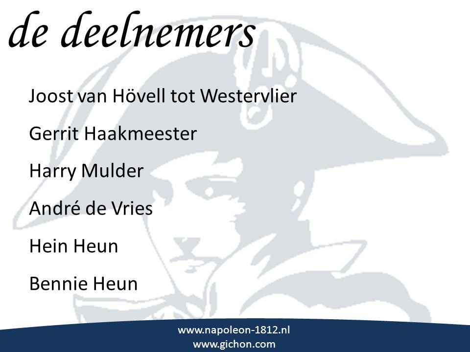 de deelnemers \\\ Joost van Hövell tot Westervlier Gerrit Haakmeester