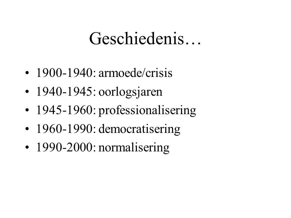 Geschiedenis… 1900-1940: armoede/crisis 1940-1945: oorlogsjaren