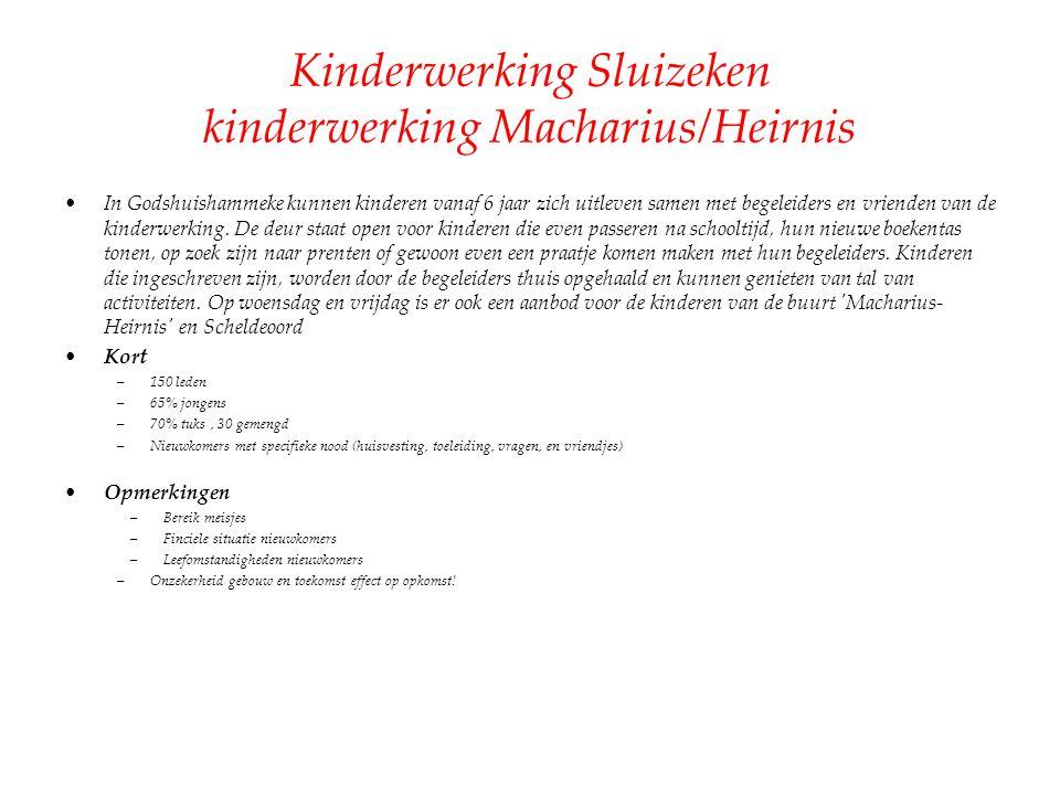 Kinderwerking Sluizeken kinderwerking Macharius/Heirnis