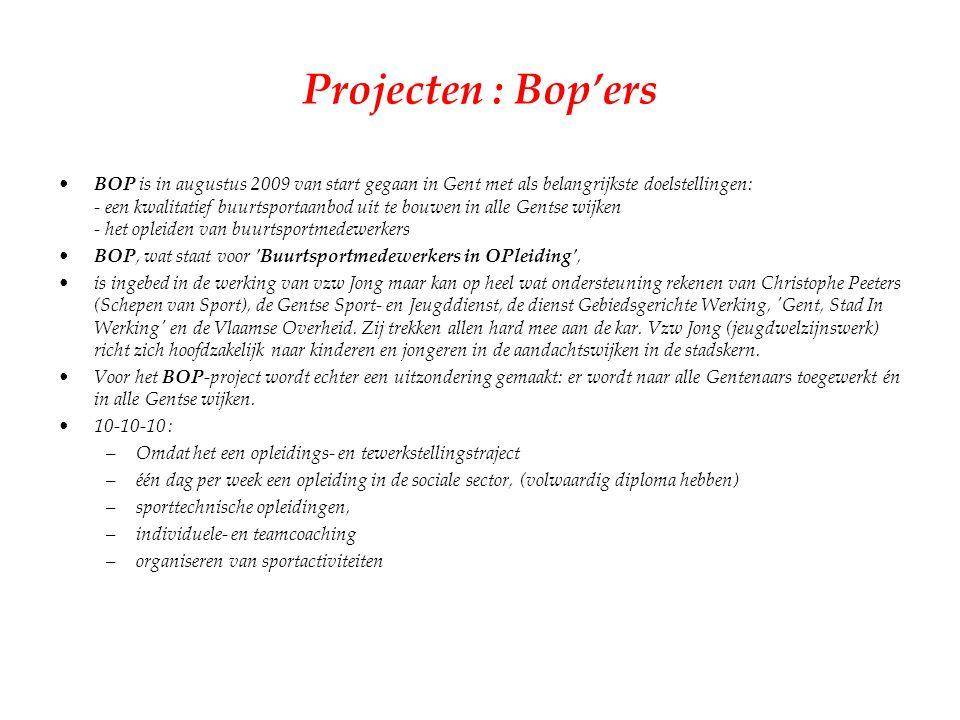 Projecten : Bop'ers
