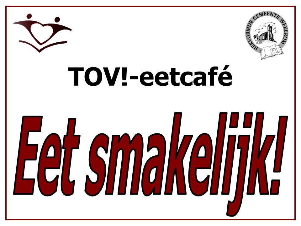 TOV!-eetcafé Eet smakelijk!