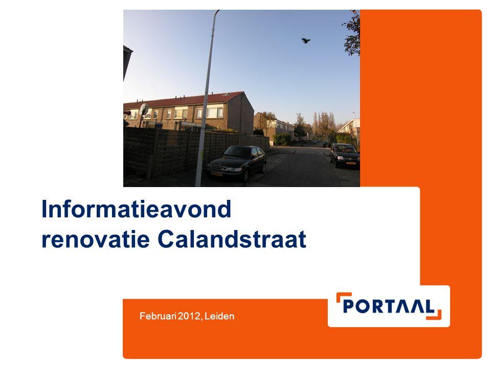 Informatieavond renovatie Calandstraat