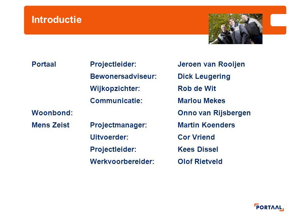 Introductie Portaal Projectleider: Jeroen van Rooijen