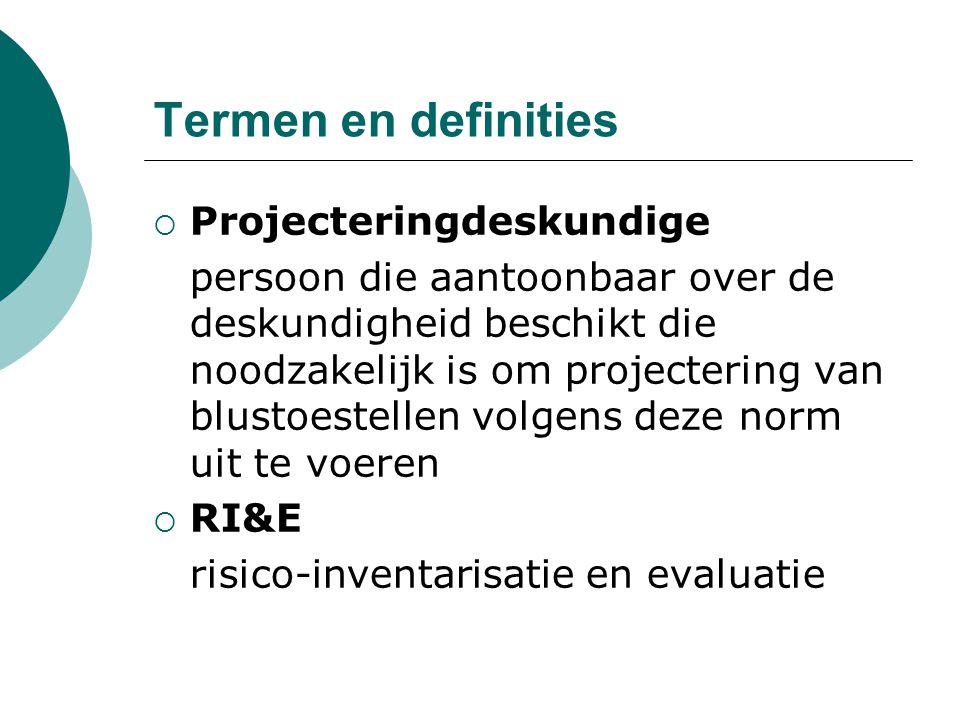 Termen en definities Projecteringdeskundige