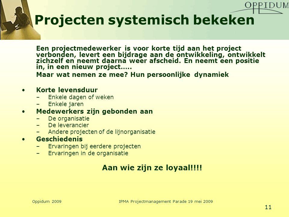 Projecten systemisch bekeken