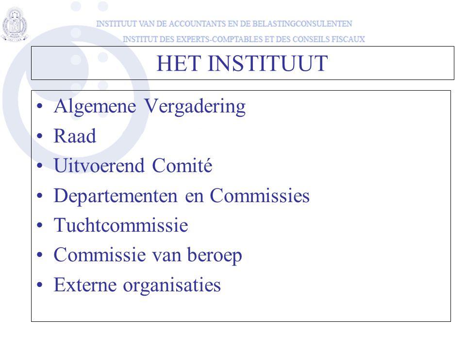 HET INSTITUUT Algemene Vergadering Raad Uitvoerend Comité