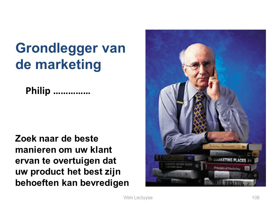 Grondlegger van de marketing