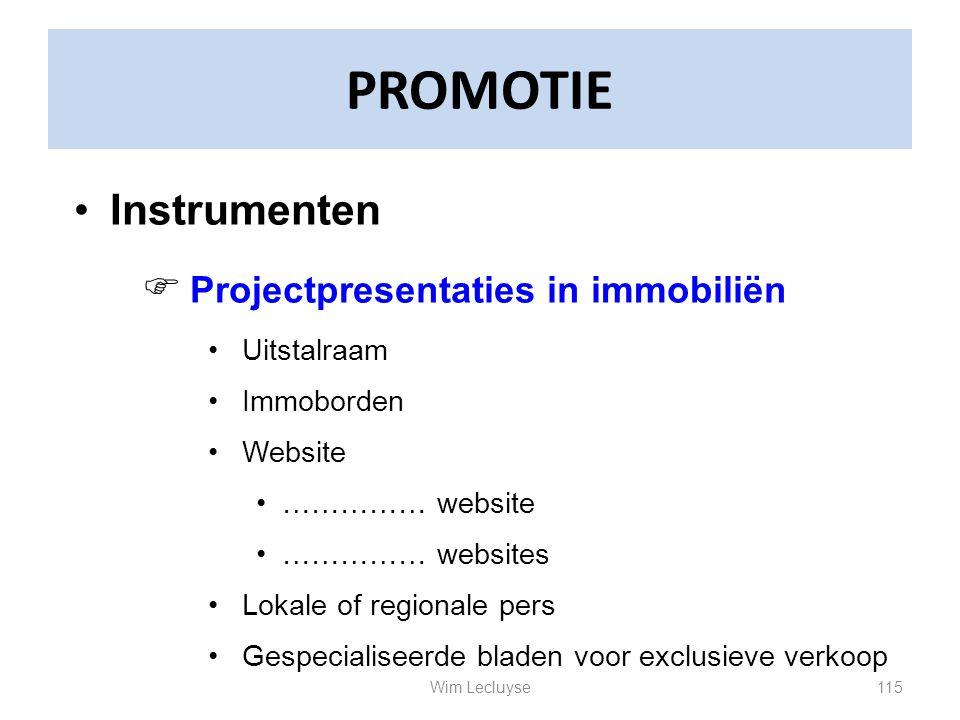 PROMOTIE Instrumenten Projectpresentaties in immobiliën Uitstalraam