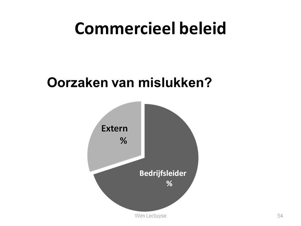Commercieel beleid Oorzaken van mislukken Wim Lecluyse