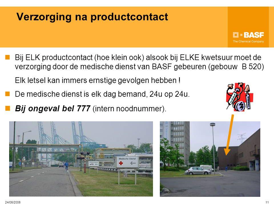 Verzorging na productcontact