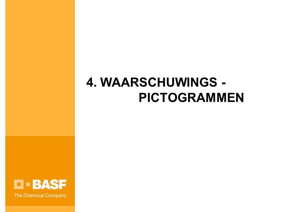 4. WAARSCHUWINGS - PICTOGRAMMEN