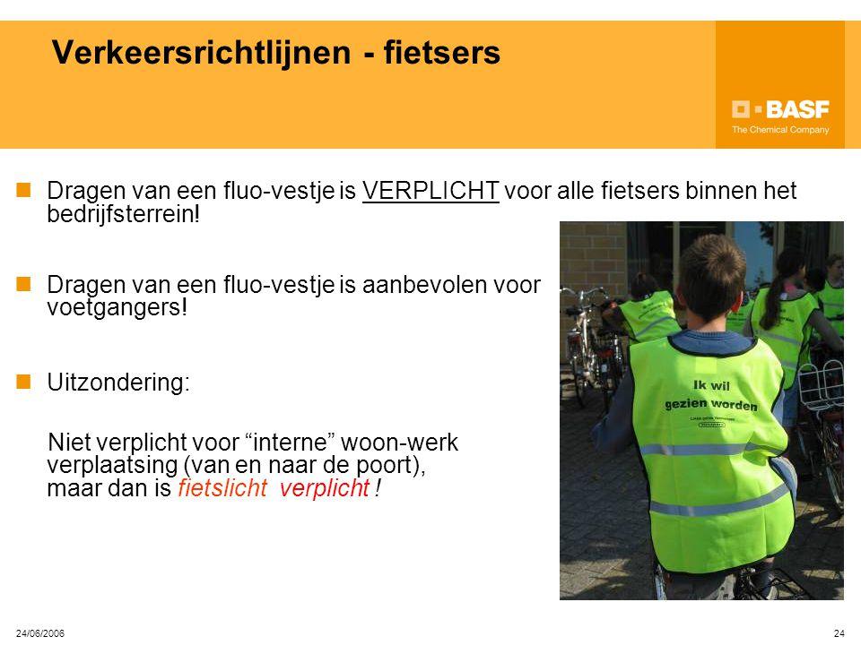 Verkeersrichtlijnen - fietsers