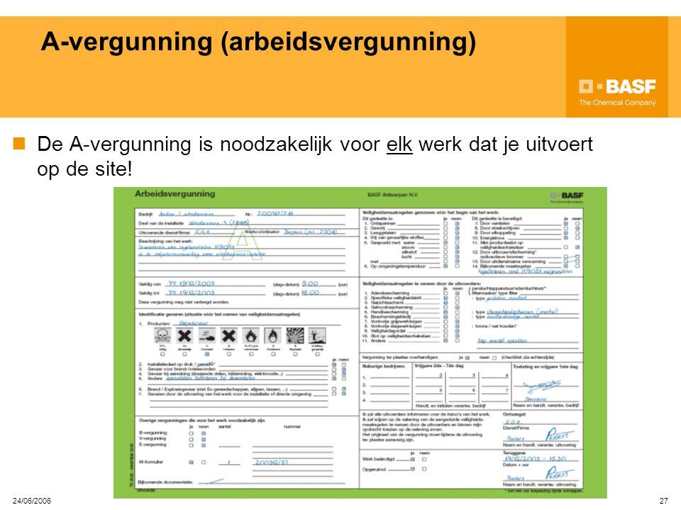A-vergunning (arbeidsvergunning)