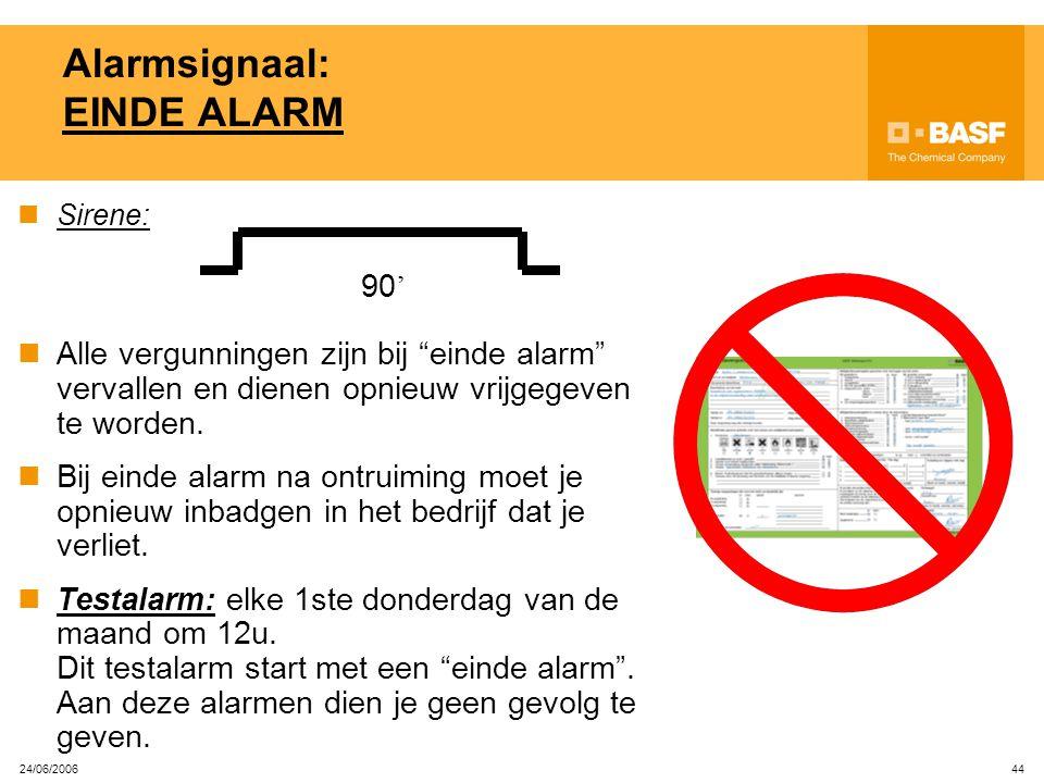 Alarmsignaal: EINDE ALARM