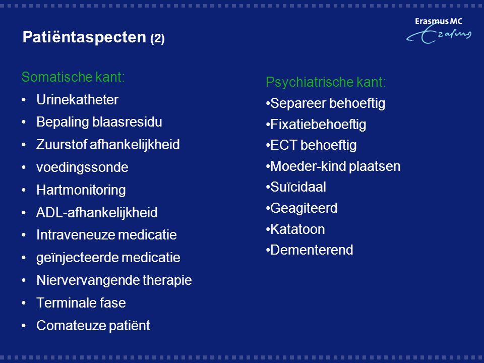 Patiëntaspecten (2) Somatische kant: Urinekatheter