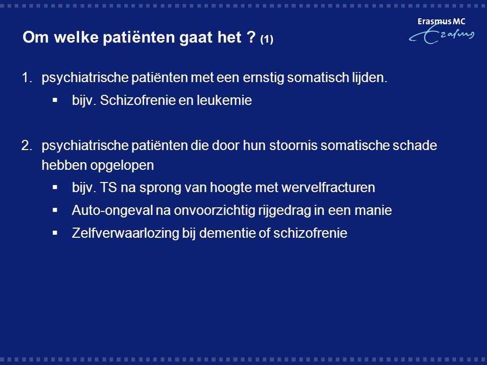 Om welke patiënten gaat het (1)