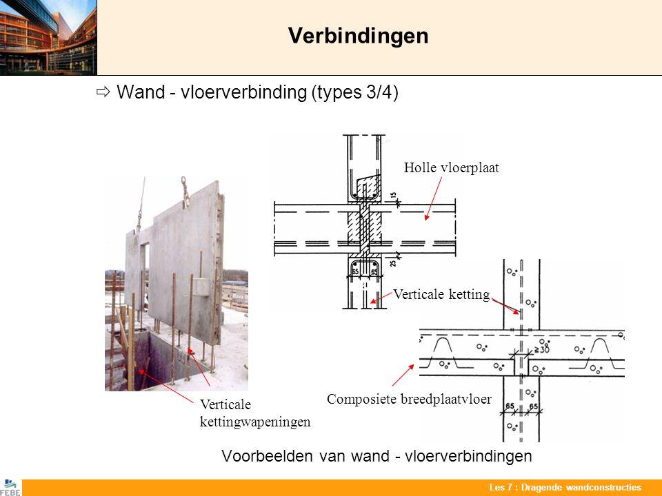 Verbindingen  Wand - vloerverbinding (types 3/4)
