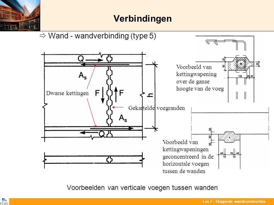 Verbindingen  Wand - wandverbinding (type 5)