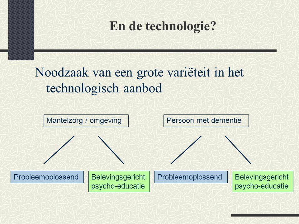 Noodzaak van een grote variëteit in het technologisch aanbod