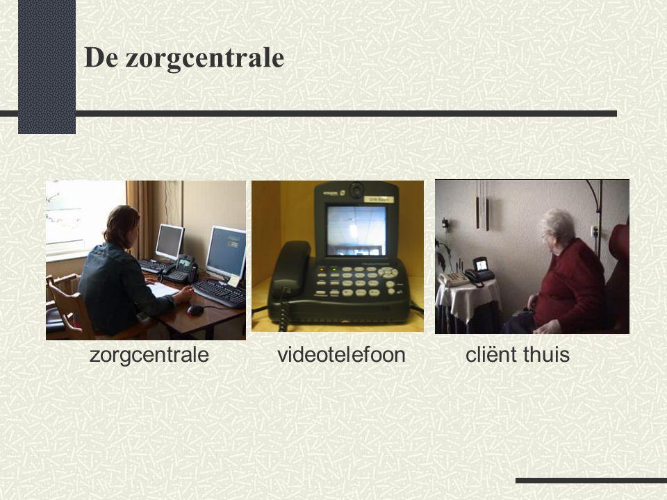 De zorgcentrale zorgcentrale videotelefoon cliënt thuis