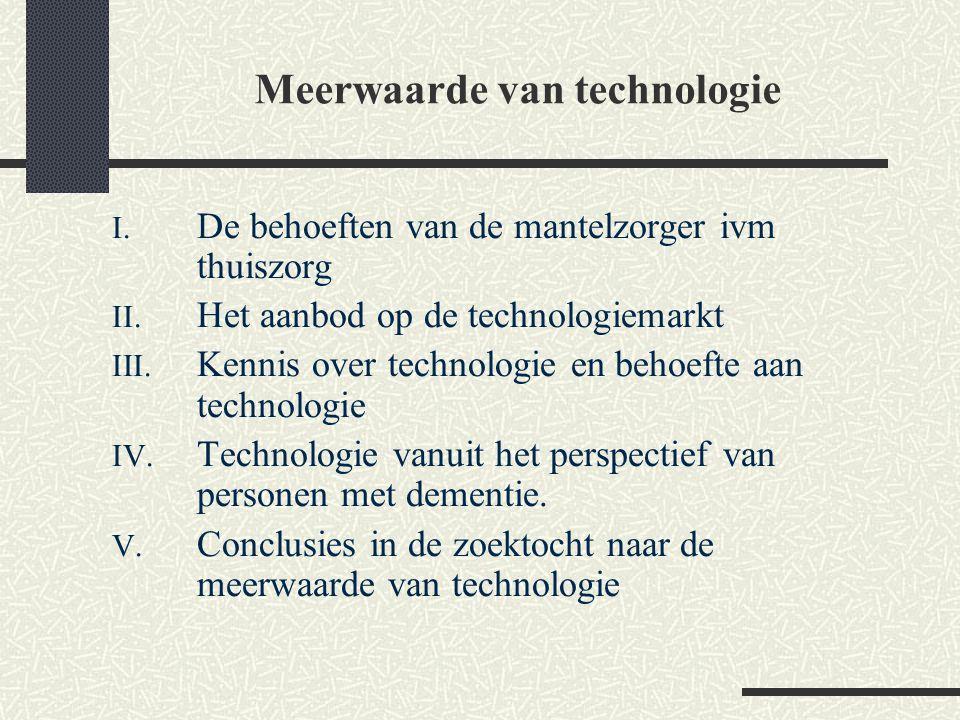Meerwaarde van technologie