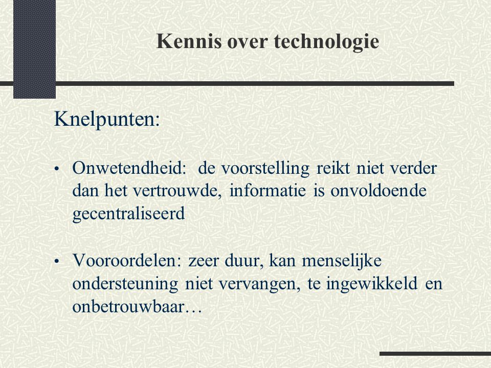 Kennis over technologie