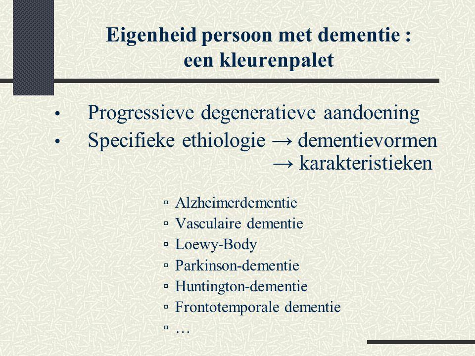 Eigenheid persoon met dementie : een kleurenpalet