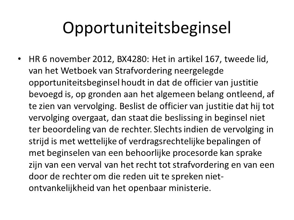 Opportuniteitsbeginsel