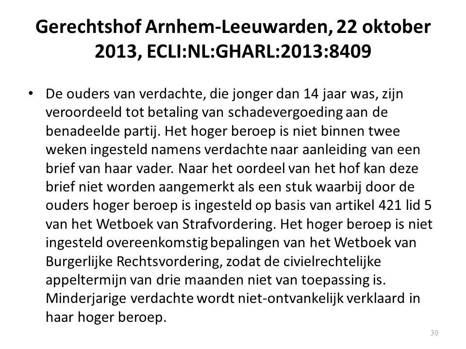 Gerechtshof Arnhem-Leeuwarden, 22 oktober 2013, ECLI:NL:GHARL:2013:8409