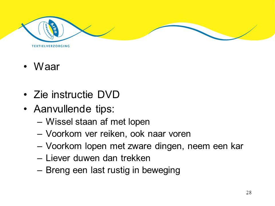 Waar Zie instructie DVD Aanvullende tips: Wissel staan af met lopen