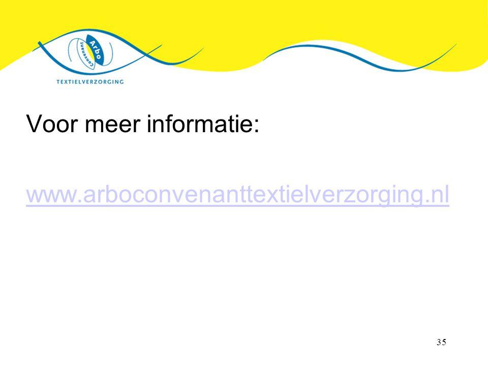Voor meer informatie: www.arboconvenanttextielverzorging.nl