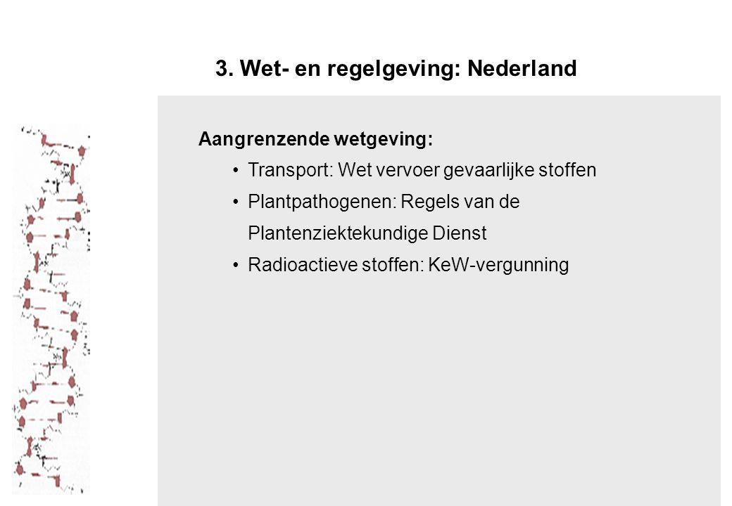 3. Wet- en regelgeving: Nederland