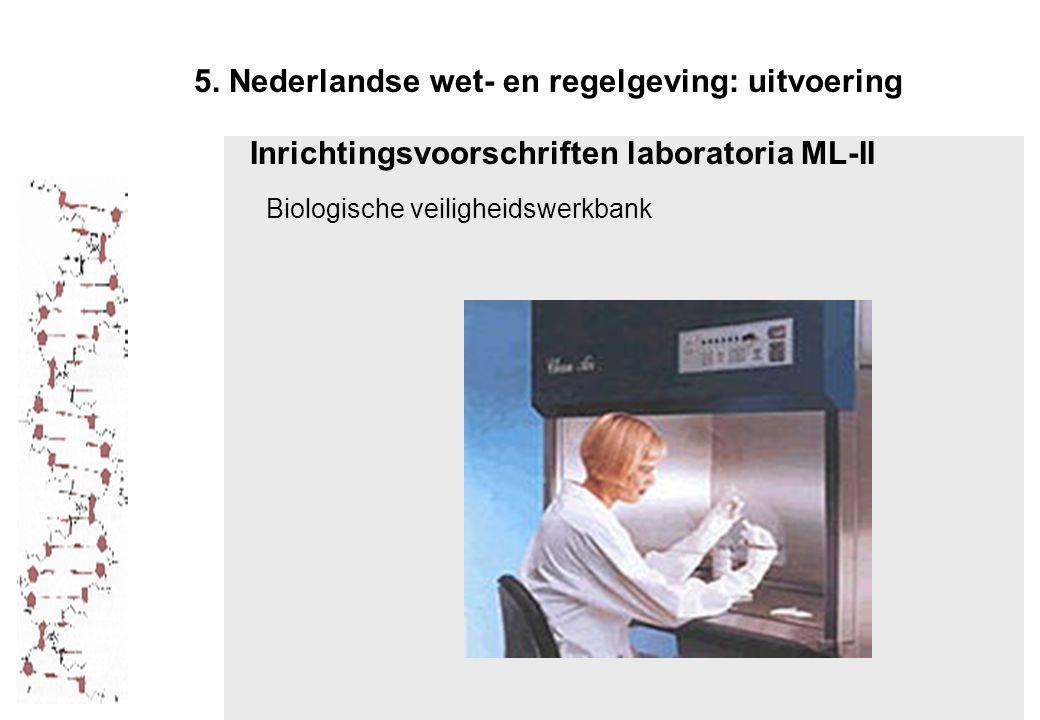 5. Nederlandse wet- en regelgeving: uitvoering