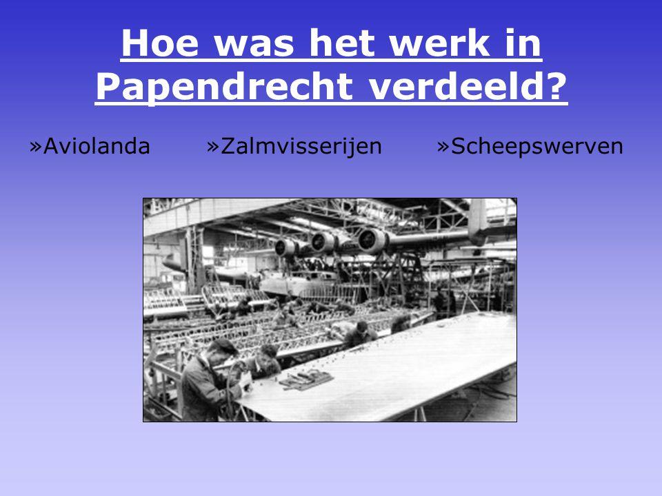 Hoe was het werk in Papendrecht verdeeld