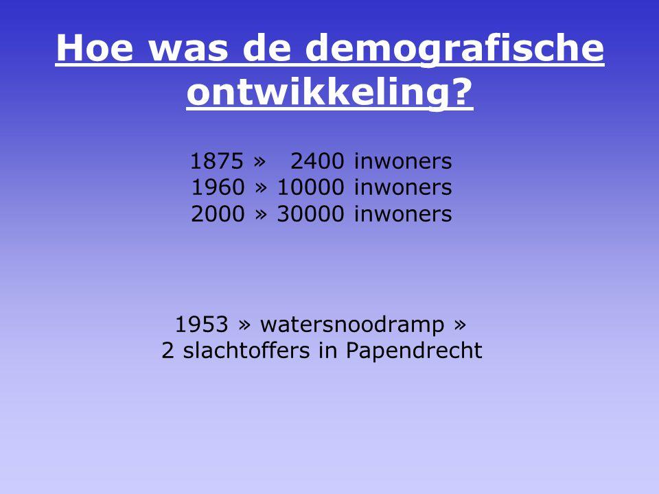 Hoe was de demografische ontwikkeling