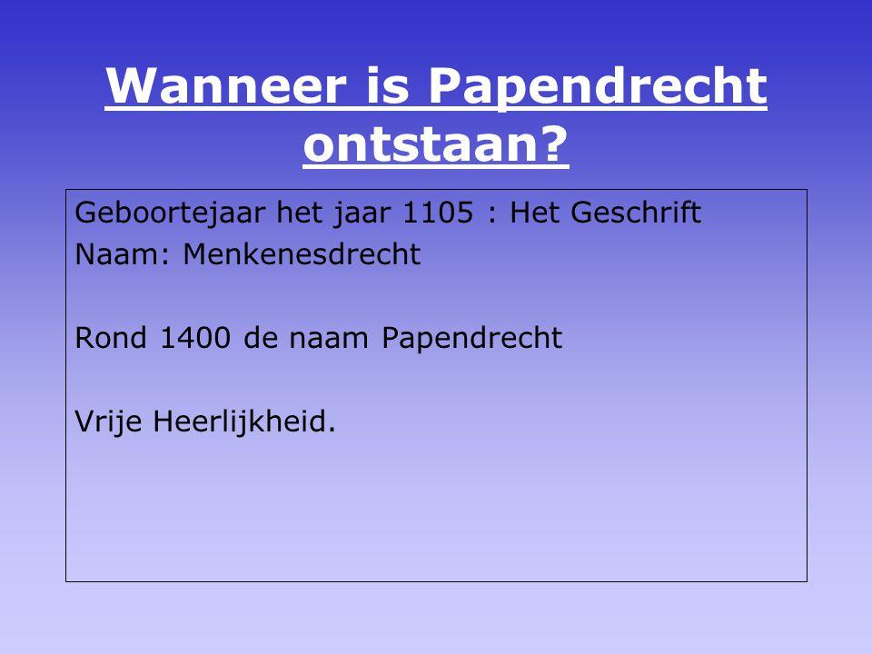 Wanneer is Papendrecht ontstaan
