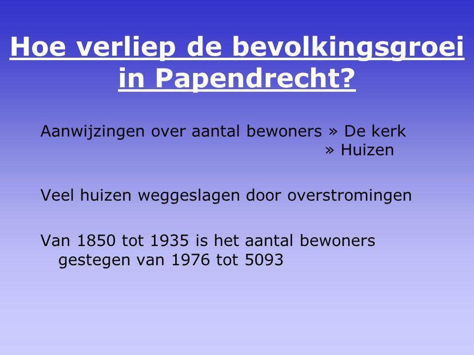 Hoe verliep de bevolkingsgroei in Papendrecht