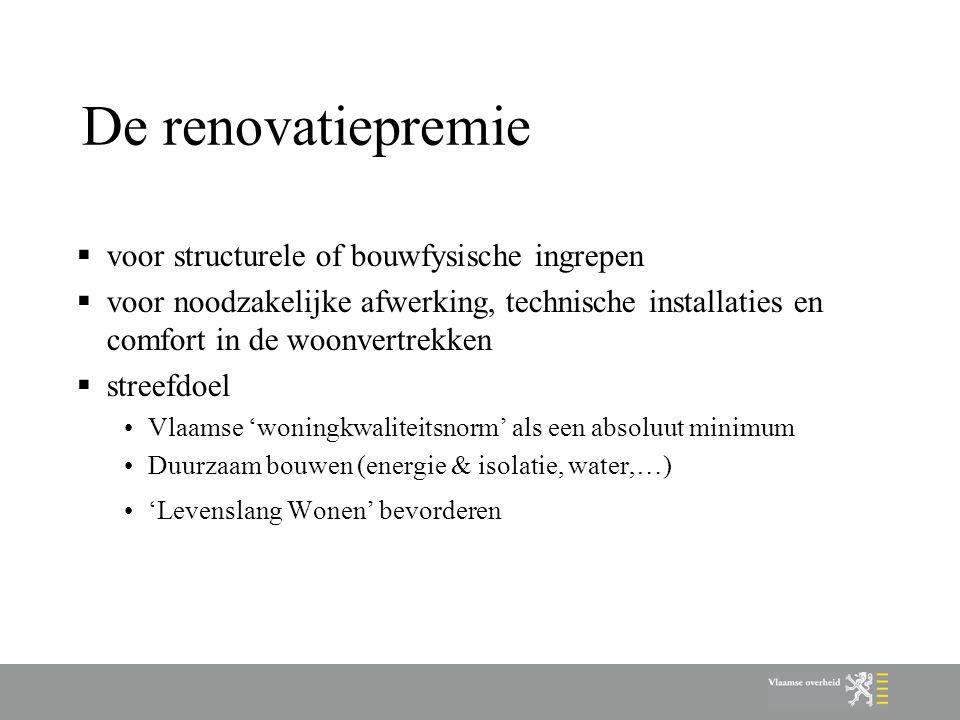 De renovatiepremie voor structurele of bouwfysische ingrepen