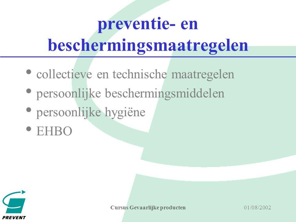 preventie- en beschermingsmaatregelen